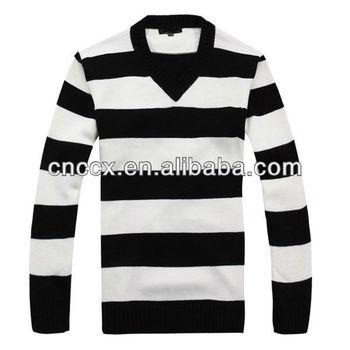 Gestreepte Trui Zwart Wit.13stc5314 Heren Zwart Wit Gestreepte Trui Buy Zwart Wit Gestreepte