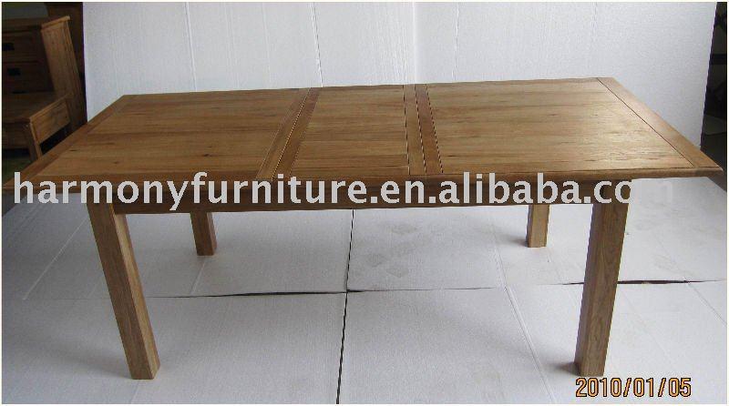 in legno massello di rovere tavolo allungabile da pranzo-tavolo da ... - Tavoli Da Cucina Allungabili In Legno