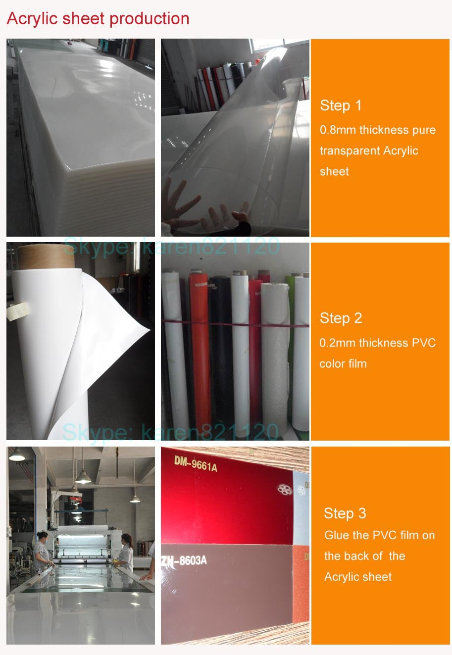 Guangzhou Zhihua Heat Resistant Clear Colored Cast/extruded ...