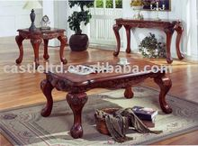Office Carved Long Coffee Table set,antique coffee table