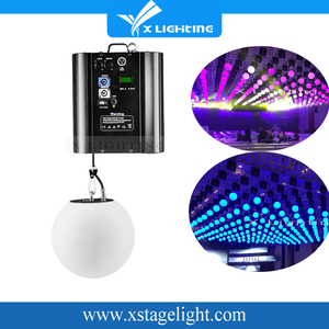 Lift machine dmx kinetic sphere lift moving led balls decorative light decoration light led string