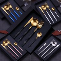 Wedding Gift Set SS304 Gold Plated Spoon and Chopsticks Set