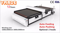 2017 clothes fabric auto feeding laser cutting machine by VMADE direct factory