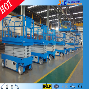 12m Platform Self Propelled Man Platform Hydraulic Automatic Electric Scaffolding Scissor Ladder