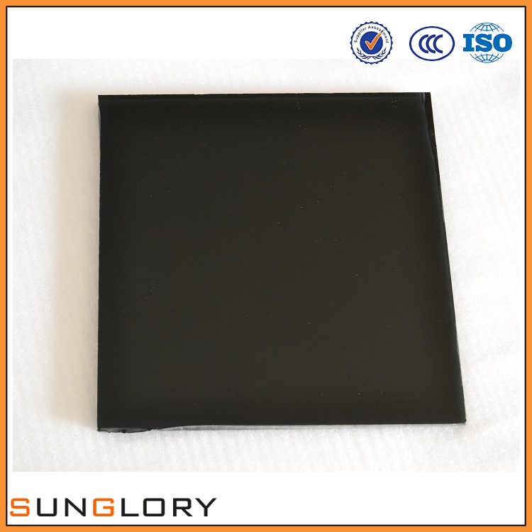 black glass panels exterior wall