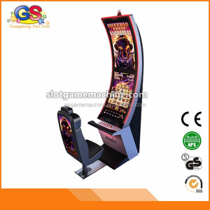 Curved Screen Custom High End Classic Luxury Designed Electronic Commercial Casino Slot Video Arcade Game Slot Cabinet