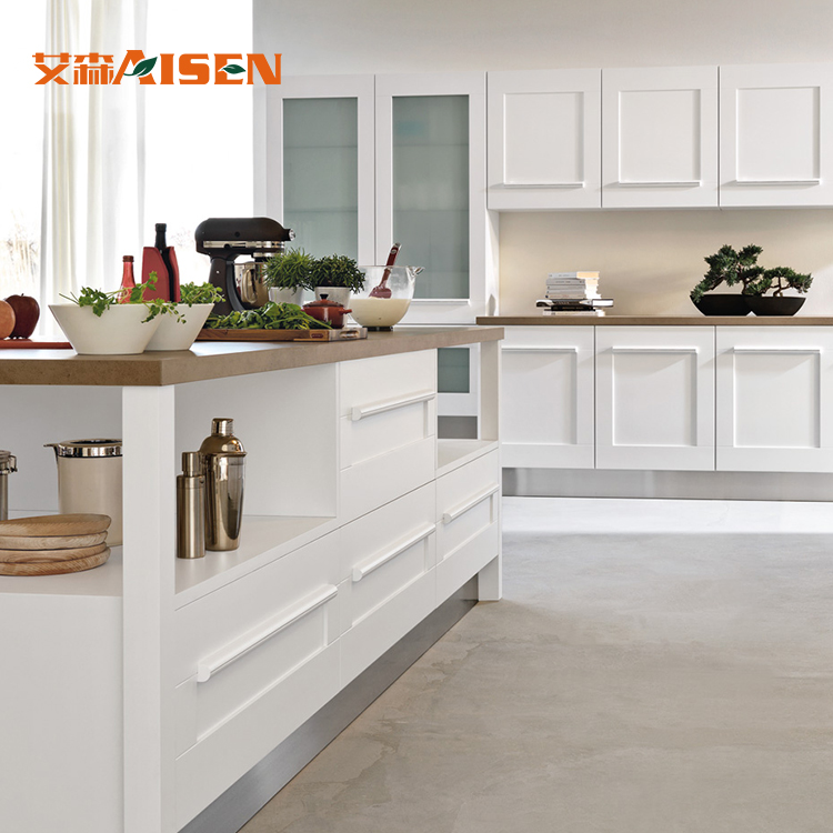 Hohe Qualität Standard Weißen Shaker Tür Massivholz Küchenschrank ...