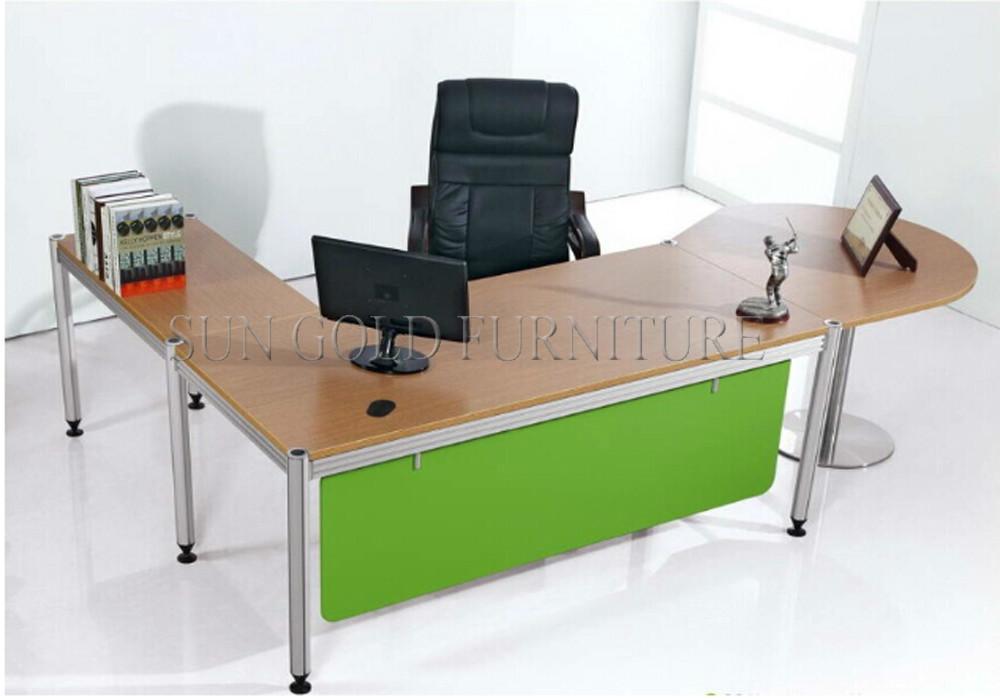 Groothandel l vorm bureau hoek kantoor tafel voor gebruikt laptop sz od098 houten tafels - Hoek kantoor layouts ...