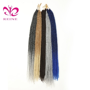 REINE Box Crotchet Braids Ombre Braiding Hair Braids synthetic Hair Extensions small Senegalese Twist Hair