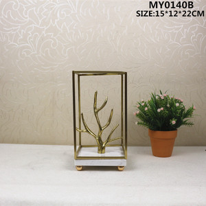 Stainless steel gold metal craft home decoration table centerpieces ornament
