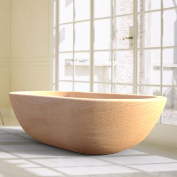 1.8m natural modern new design stone shell shaped bathtub for sale