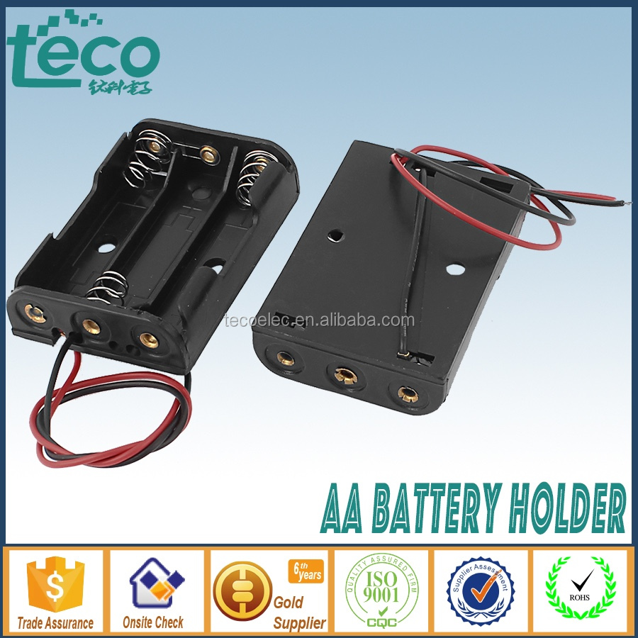 Tbh-2a-3a Ningbo Teco Wire Lead Battery Holder Box For 3 X 1.5v Aa ...