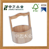 home decor antique primitive wood wooden snack bucket