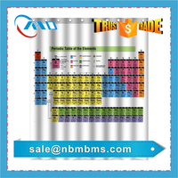 Photo Printing Fabric Periodic Table Shower Curtain