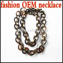 Charm tokyo necklace chains links acetate luxe material jewelries metal lucite factory