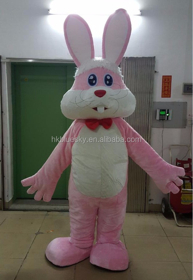 bswm30 Pink rabbit mascot costume bunny costume for sale