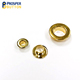 Faux Gold Brass Metal Eyelet with Flat Surface for Garment
