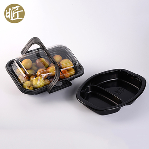 Biodegradable PP plastic clear clamshell airline food box