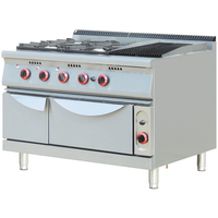 Restaurant Commercial Used Heavy Duty Gas Cooking Range with Oven
