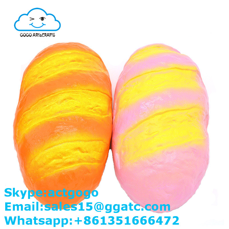 China factory top quality squishy slow rising Jumbo bread stress ball fidget toys relieving stress