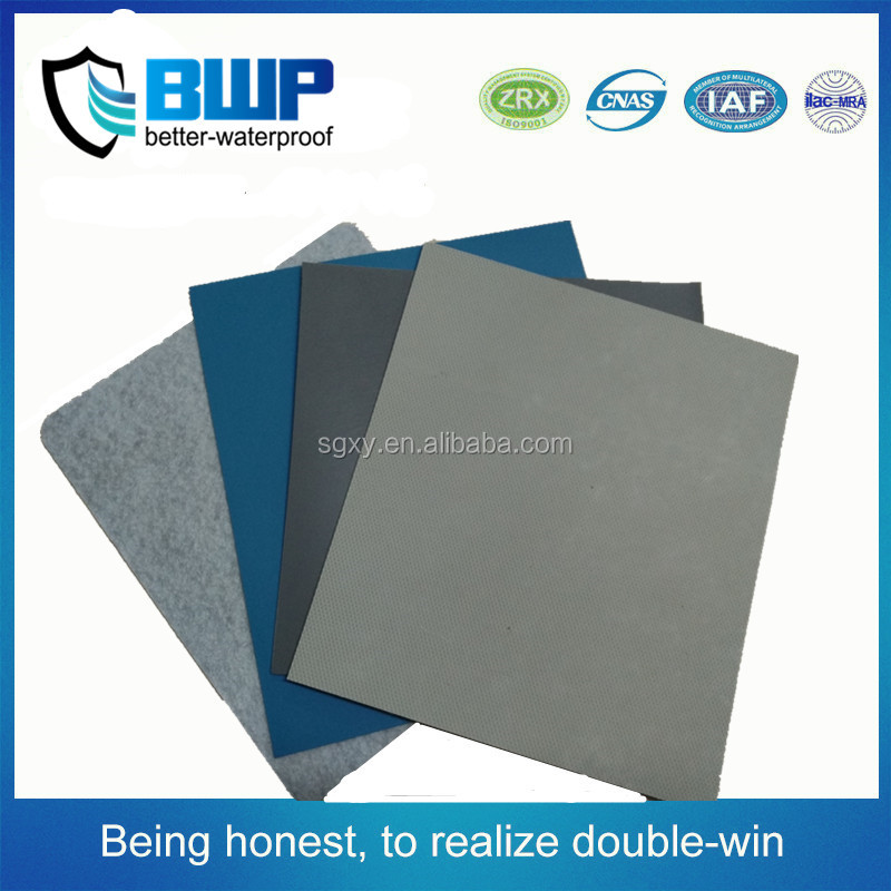 New types roof materials 2.0mm PVC Reinforced waterproof membrane