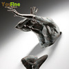 Metal Art Decor 3D Bronze Statue Climbing Man Wall Sculpture
