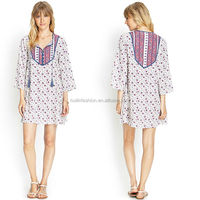 2014 paisley print latest dress designs for ladies indian tunic dress