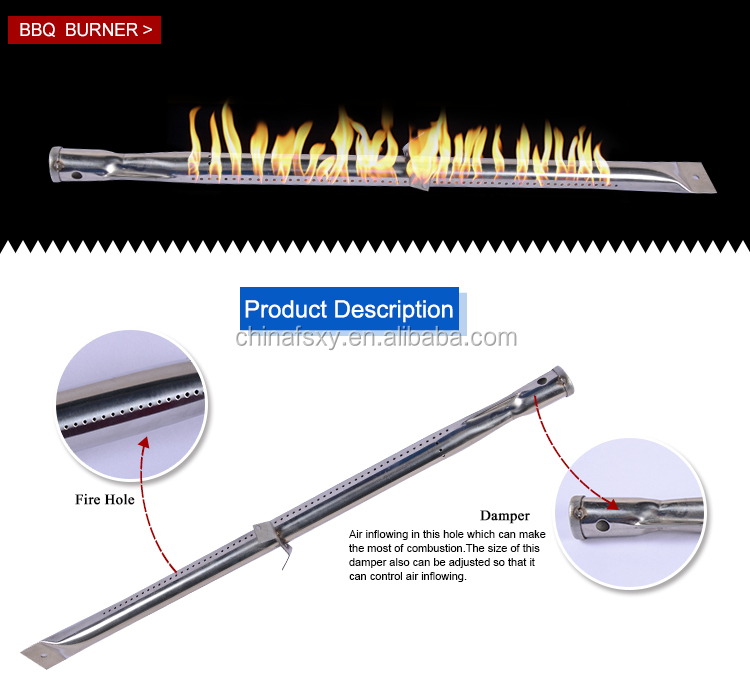 Replaceable Stainless Steel BBQ Gas Tube Grill Burner for Select Uniflame Gas Grill Models