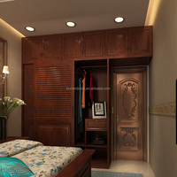 Antique design bedroom wood wardrobes for luxury villa