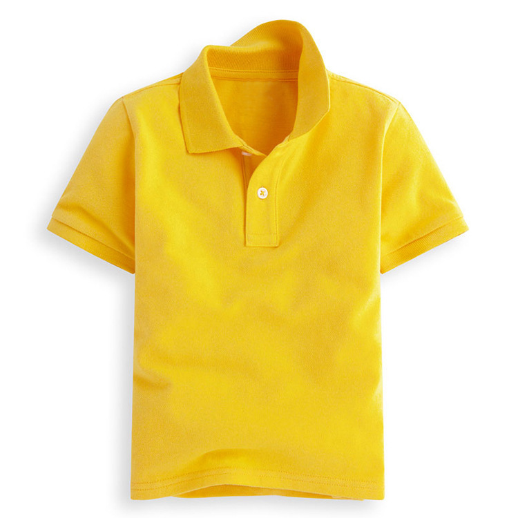 High Quality Short Sleeve Children Polo T Shirts 100% Cotton Blank Kids Polo Shirts Wholesale