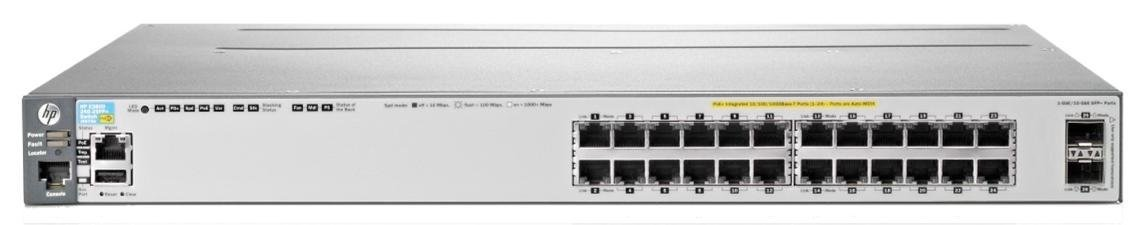 HP E3800-24SFP-2SFP+ Layer 3 Switch - Manageable - Stack Port - 27 x Expansion Slots