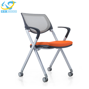 mesh folding study chair with writing pad training room folding chair modern training chair design