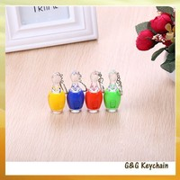 Factory outlet Manufacturers Selling LED Luminous Bowling Keychain Q9025