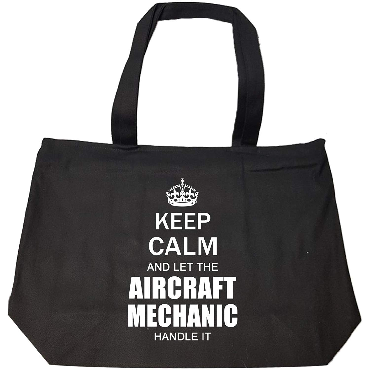 Keep Calm And Let The Aircraft Mechanic Handle It Funny Gift - Tote Bag With Zip