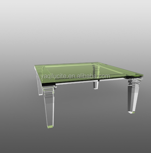 African Style Cheap Acrylic Coffee Table With 4 Legs