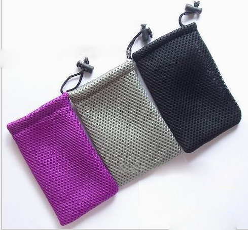 High Quality Fabric Mesh Jewelry Bag Drawstring Gift Pouch Custom Logo For Laptop Phone Packaging