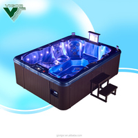 2016 China factory high quality luxury 8 person hot tubs outdoor spa/ whirlpool / bathtub