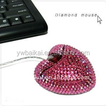 1ac31fabc45 Heart Shaped Computer Mouse With Diamond - Buy Mouse