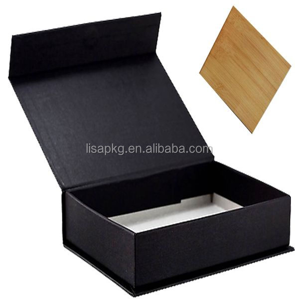 black custom packaging magnetic gift box for baseball caps
