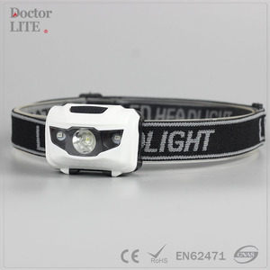 4 Modes Headlight Battery Powered Helmet Light for Camping Running Hiking Wholesale Head Torch Light
