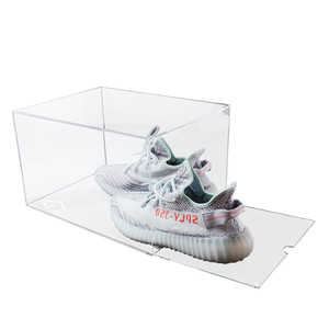 Clear Acrylic Drop Front Shoe Display Box For Nike Shoe