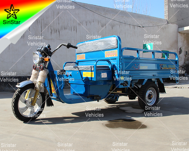 2018 Heavy Battery Operated Loader Rickshaw 3 Wheel Electric Cargo Tricycle Open Body