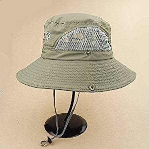 c3bc8c90ac9 Get Quotations · Mocase Outdoor Large Round Brim Bucket Hat Quick Drying  Men Women Summer Sun Cap Sun Block