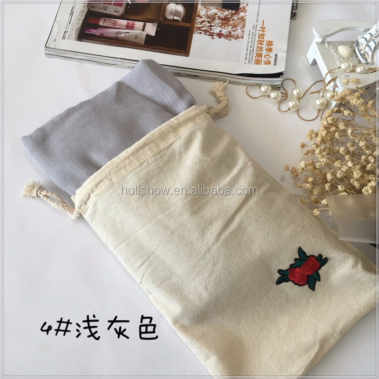 2017 Newest Fashion Chic Embroidery Rose Applique Viscose Scarf
