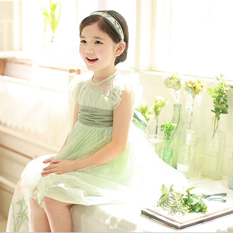 Wholesale High Quality Summer Cute Pretty Princess Dress, Kids Clothes Weeding Dress,Flower Little Girl Party Ball Gown dress