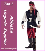 Cosplay men's halloween party pirate costumes Pirates of the Caribbean devil halloween costume