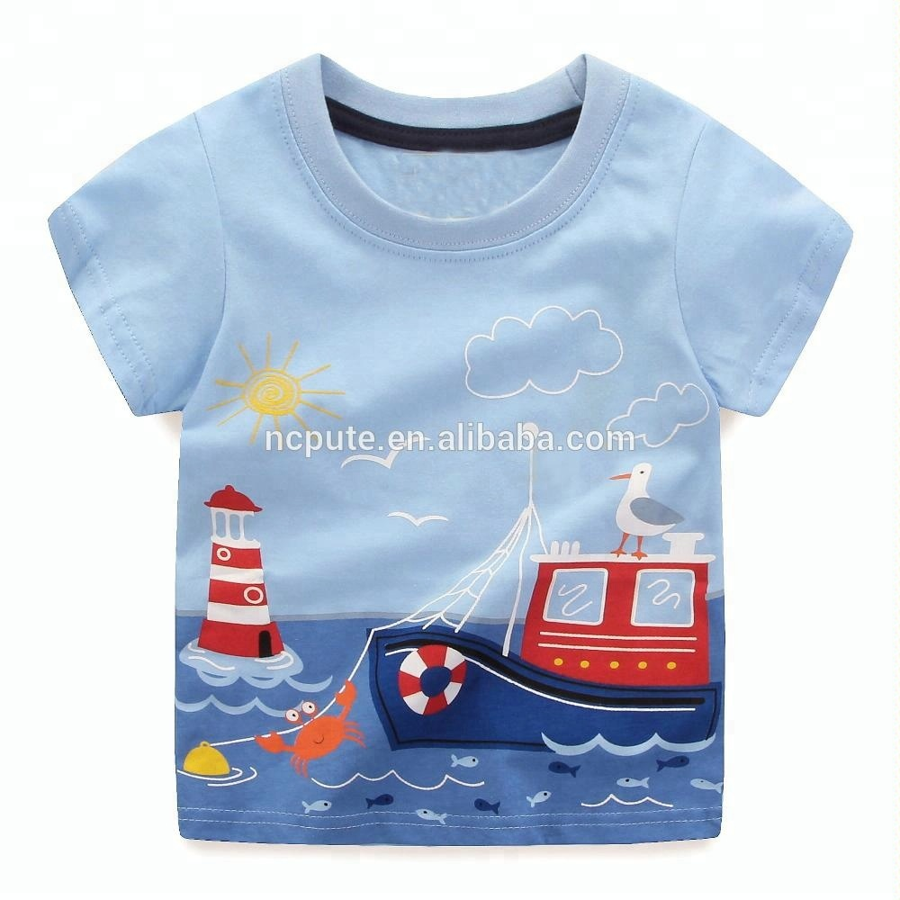 Wholesale Boys Tops Summer 2018 Children Clothes Kids T Shirt Baby Clothing Boys T-Shirts