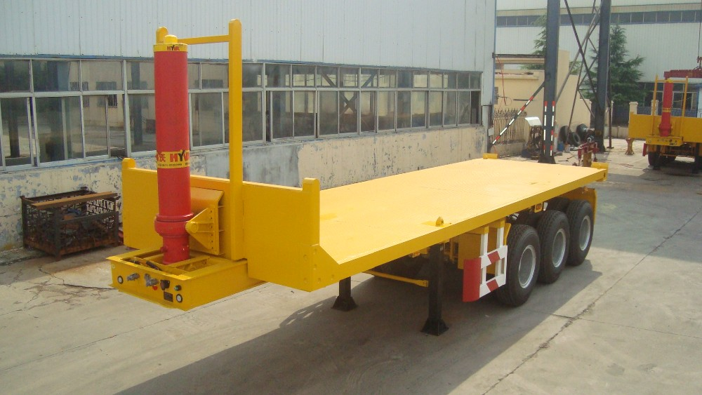 Titan 40ft Hydraulic Lift Flatbed Trailer,Container Tipper