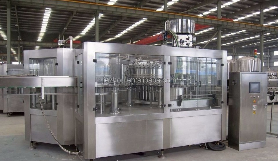 DCGF type2000-20000bp/h automatic soda water and carbonated drinks like cola  rising filling capping machine