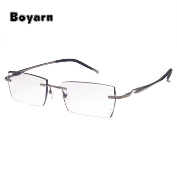 Rimless Diamond Cutting Fashion Eyeglasses For Men And Women Eyewear ...